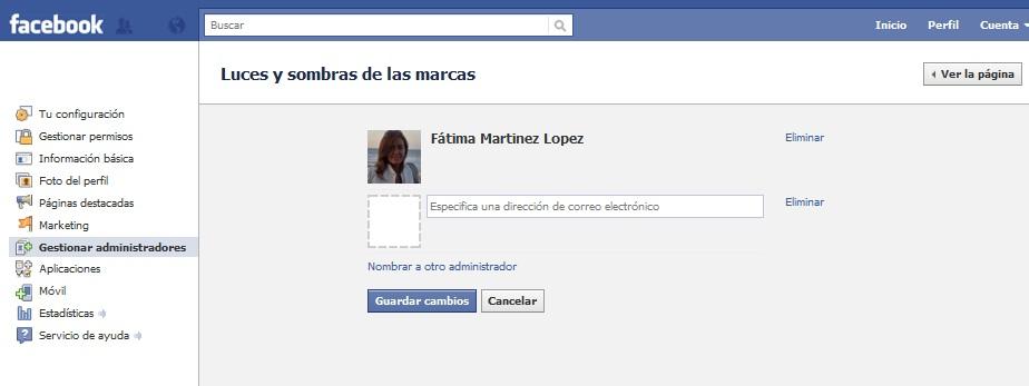 Administradores de paginas de Facebook