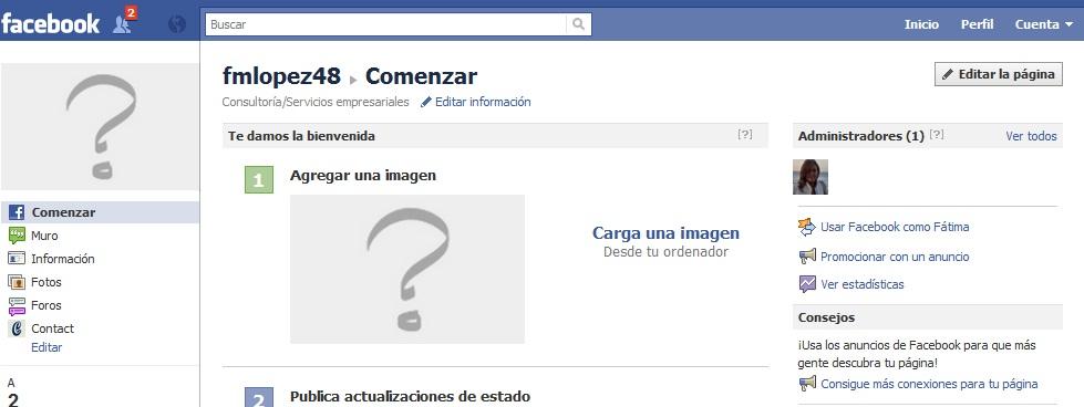 Como crear una fanpage en Facebook (2/5)