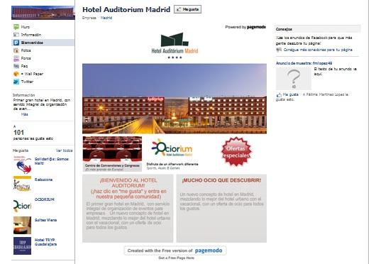 Landing page de Facebook