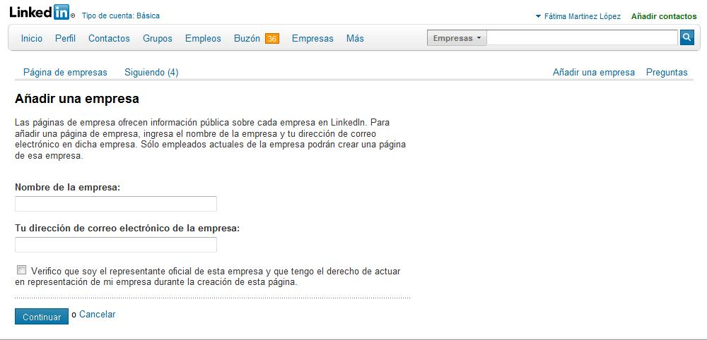 Como crear una página de empresa en Linkedin (2/2)