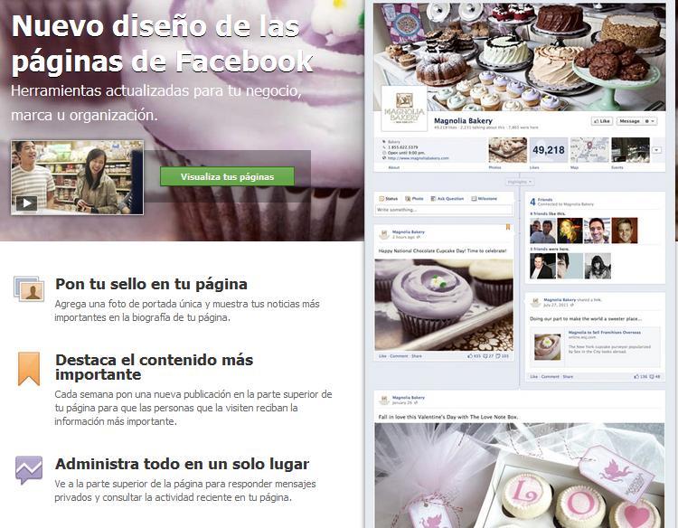 Ya está aquí el nuevo diseño de las Fan Page de Facebook (1/6)