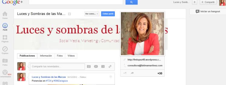 google+ paginas