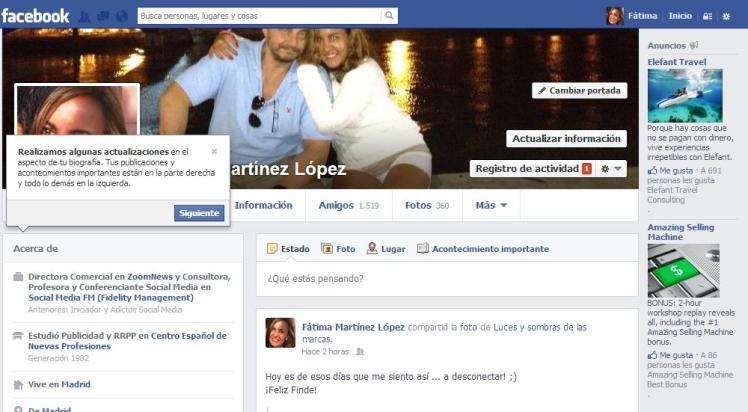 Cambios Facebook 2013