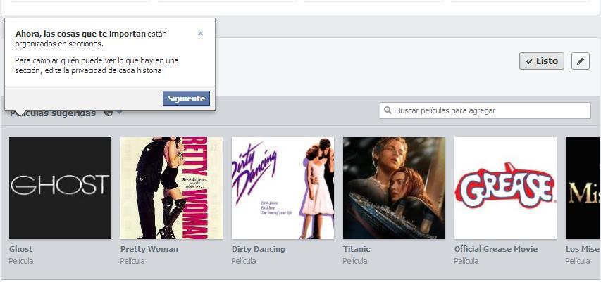 Cambios Facebook 20133