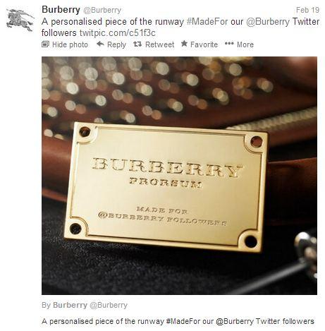 Burberrys en Twitter