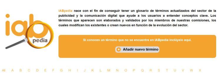Glosario IAB términos digitales colaborativo