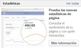 nuevas estadísticas FB