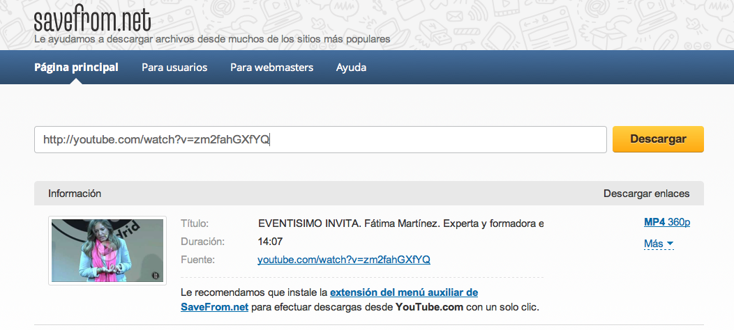 descargar de youtube a mp4