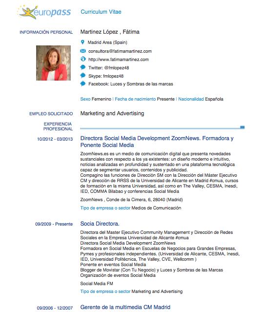 nuestro curriculum en pdf infografa o vdeo utilizando linkedin empleo salamanca