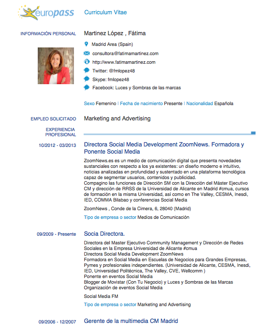 nuestro curriculum en pdf  infograf u00eda o v u00eddeo utilizando