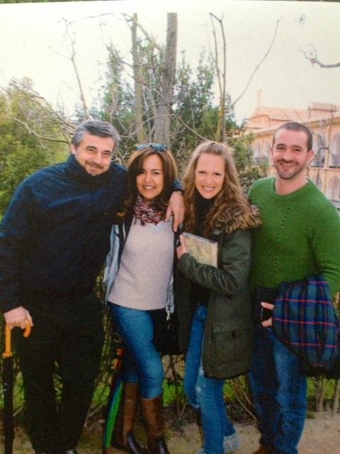 con Amel y Ana en el Monasterio