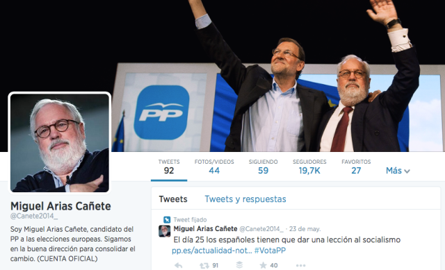 Miguel Cañete Twitter