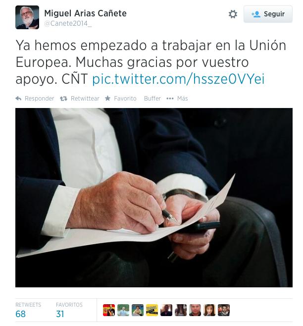 Miguel Arias Cañete parlamento