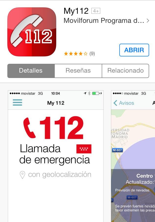 My112 App Emergencias 112