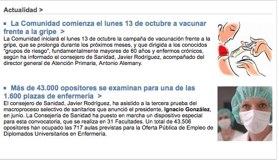 Comunidad de Madrid ebola