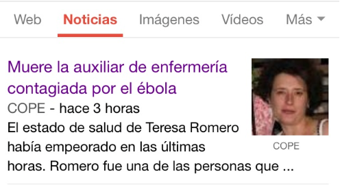 Teresa ébola cope