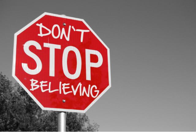 No dejes de creer
