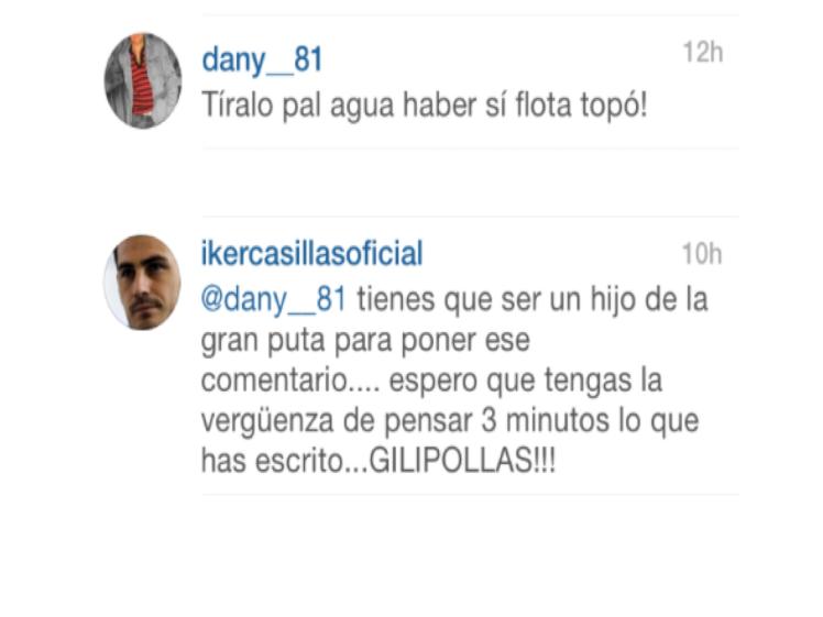 Iker Casillas pierde los nervios en Twitter