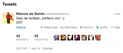 Marcos de Quinto deja Twitter