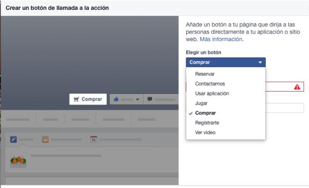 Facebook. botón-llamadas-a-la-acción
