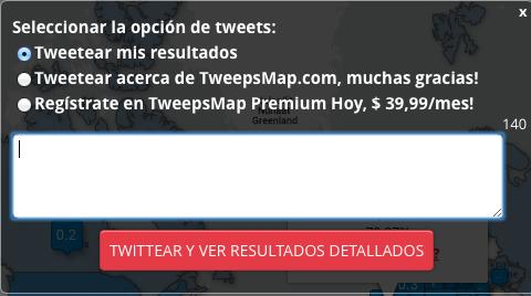 herramienta geolocalización Twitter