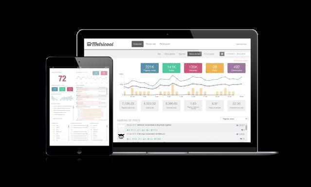 Metricool análisis tiempo real blogs