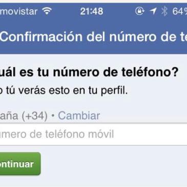 Como eliminar móvil de Facebook