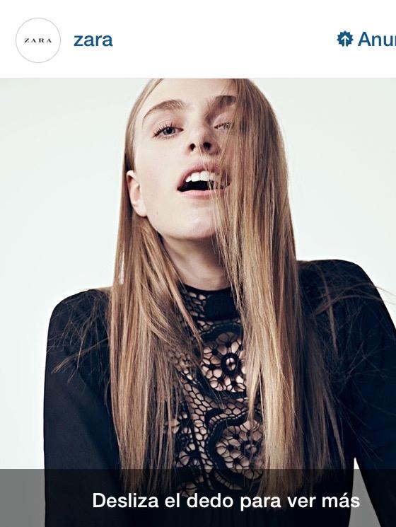 Zara en Instagram