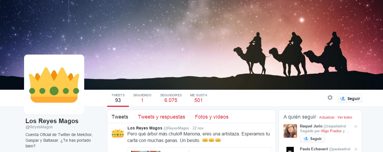 Reyes magos twitter