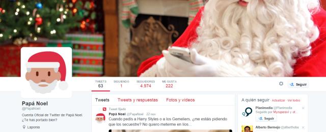 Twitter Papa Noel