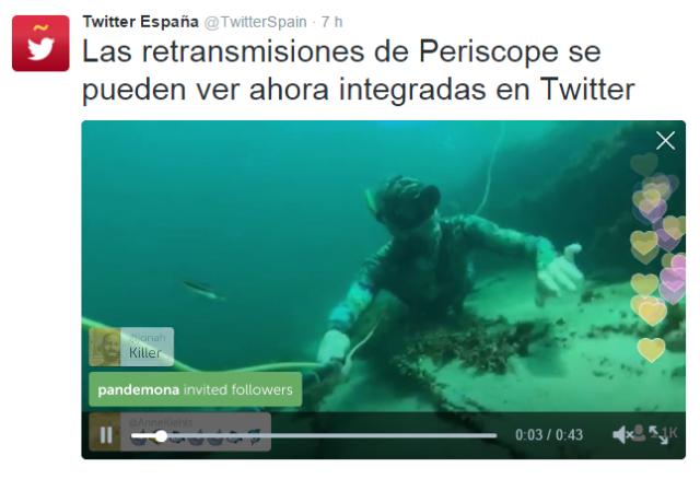 Periscope en Twitter