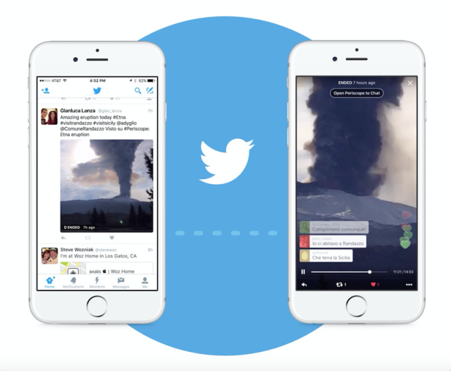 Periscope integrado en Twitter