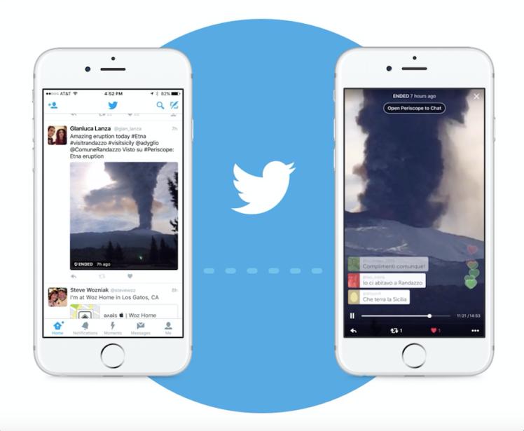 Periscope integrado en Twitter