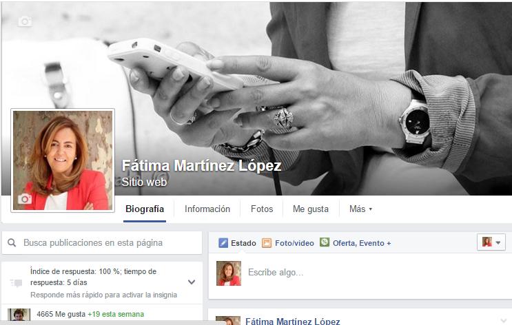 Página Facebook Fátima Martínez López