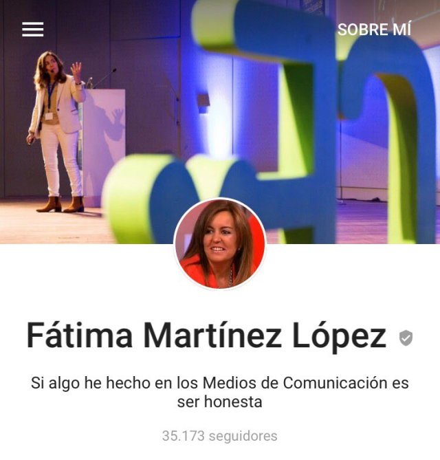 Perfil Google Plus Fatima Martinez