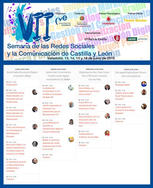 Ponentes VII Semana Redes Sociales Castilla y León