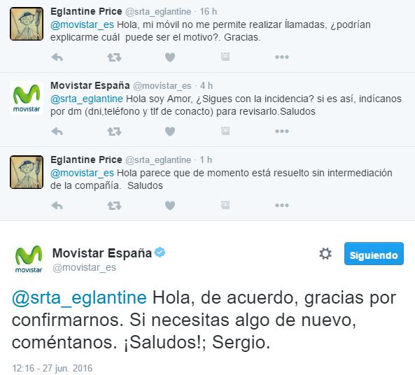 Canal de atención al cliente Movistar