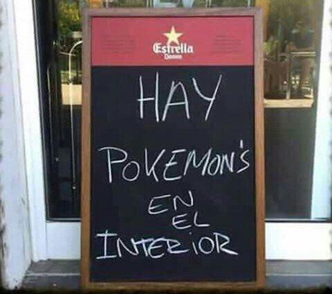 hay pokemon el bar