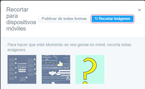 crear momento Twitter