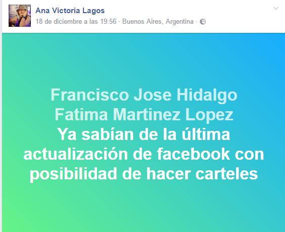 colores en Facebook