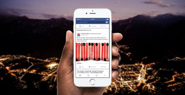 Facebook Audio en directo