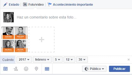 programar en perfiles de Facebook