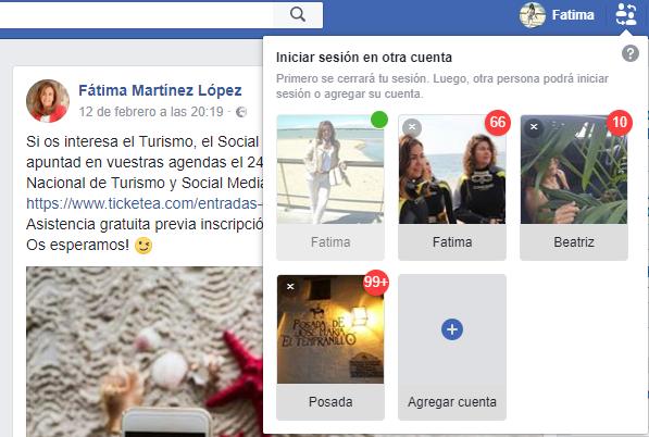 facebook iniciar sesion otro usuario