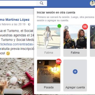 Botón cambio cuenta Facebook