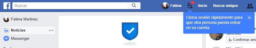 Intercambiar cuentas facebook