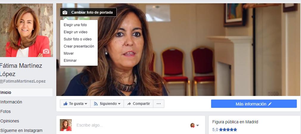 Incluir vídeo portada página Facebook