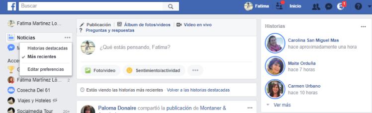 Dejar de seguir amigos en FAcebook