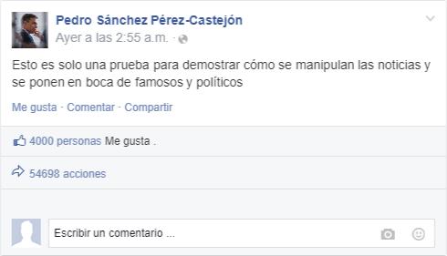 Herramienta actulización Facebook falso