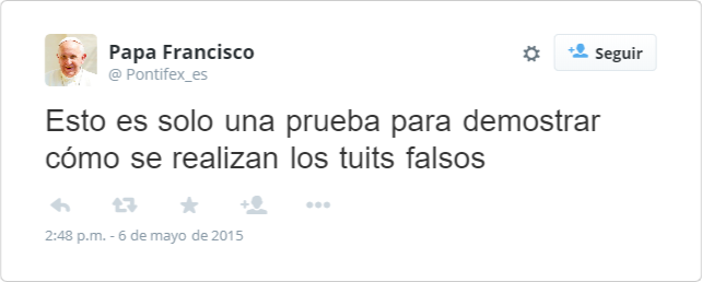 Crear tuits falsos