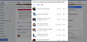 Invitar usuarios pagina facebook